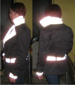 GoGo Gear Trench Jacket Reflective Material