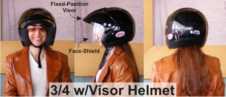 Bell Mag-8 Motorcycle Helmet Camille Ramirez-Smith model