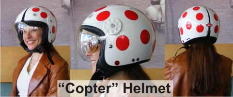 HCI Copter Style Motorcycle Helmet Camille Ramirez-Smith model